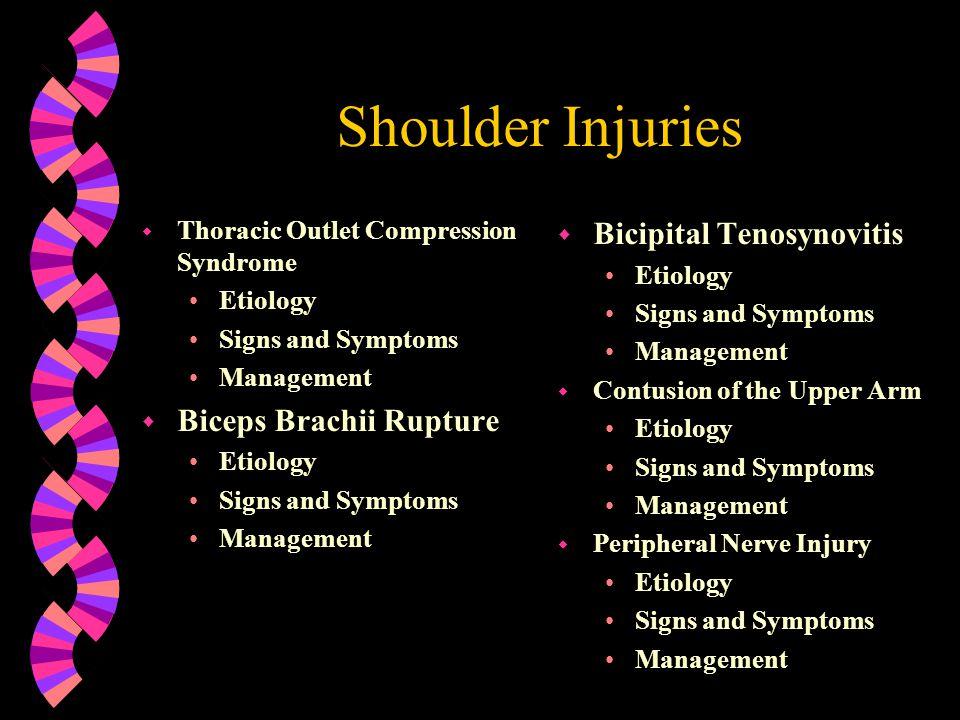 Shoulder Injuries Bicipital Tenosynovitis Biceps Brachii Rupture