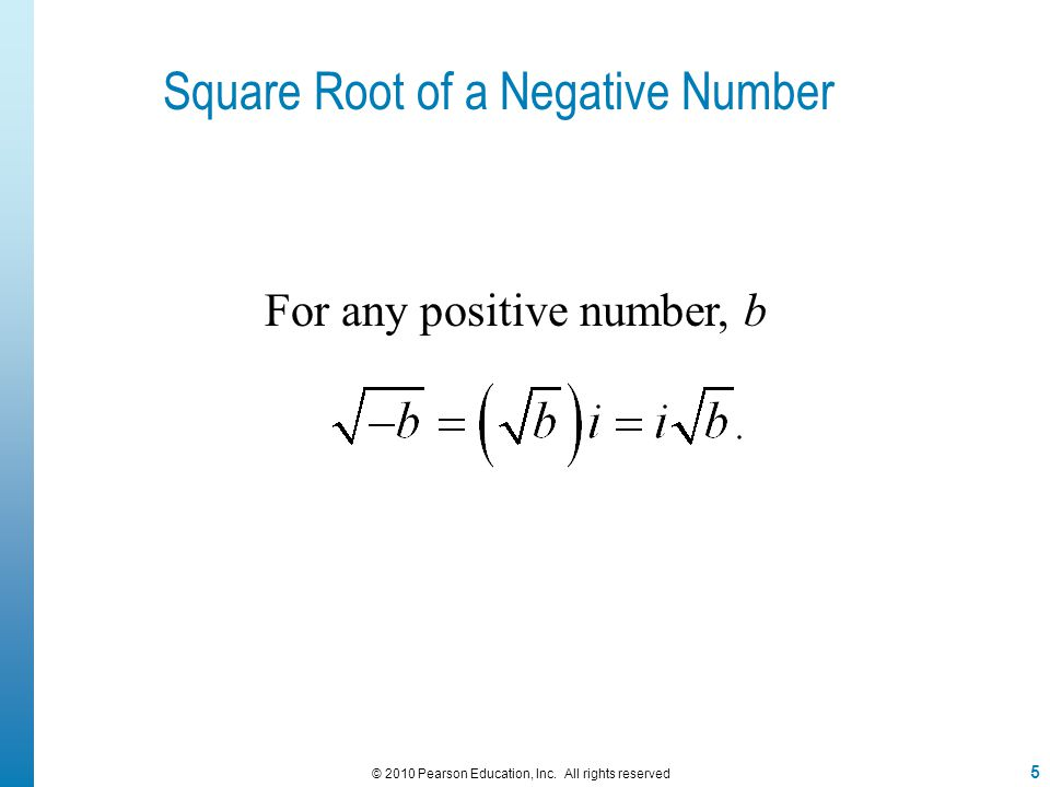 Square Root of a Negative Number