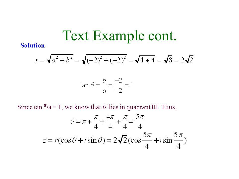 Text Example cont. Solution