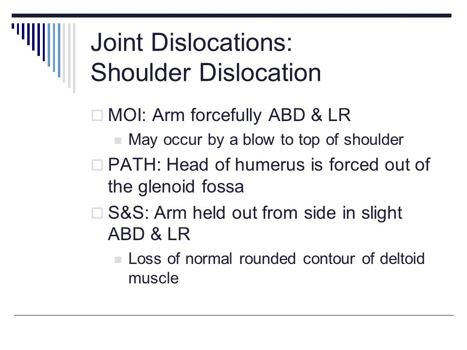 Joint Dislocations: Shoulder Dislocation