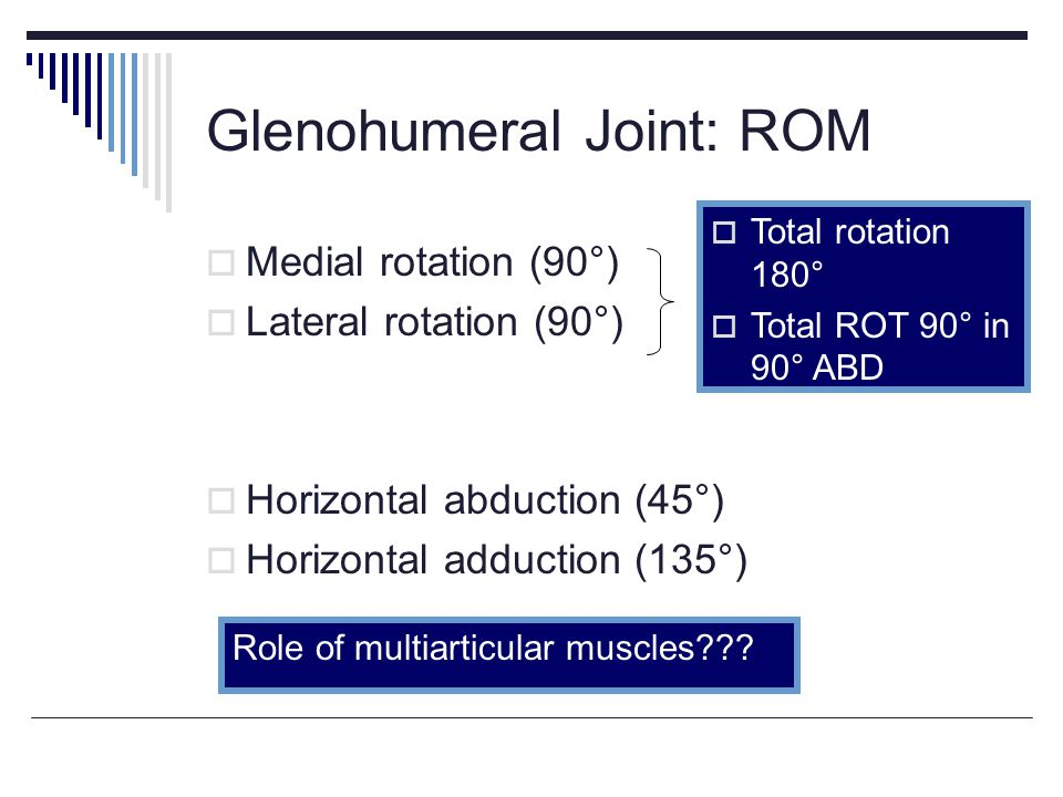 Glenohumeral Joint: ROM