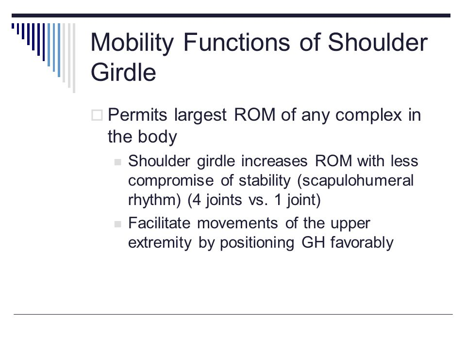 Mobility Functions of Shoulder Girdle