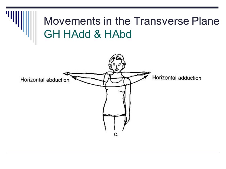 Movements in the Transverse Plane GH HAdd & HAbd