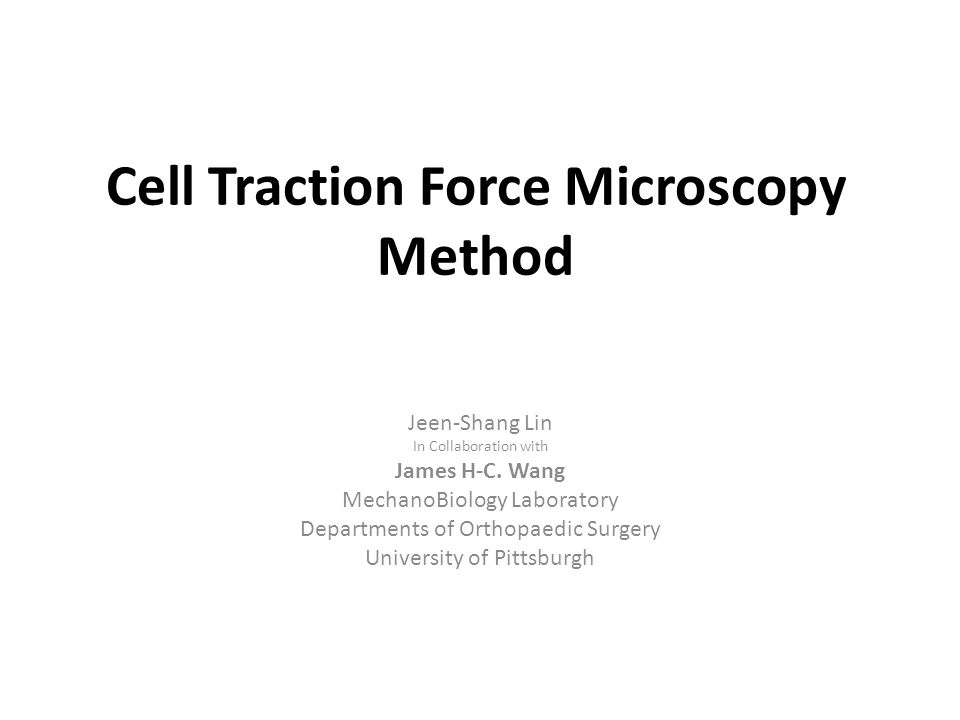 Cell Traction Force Microscopy Method
