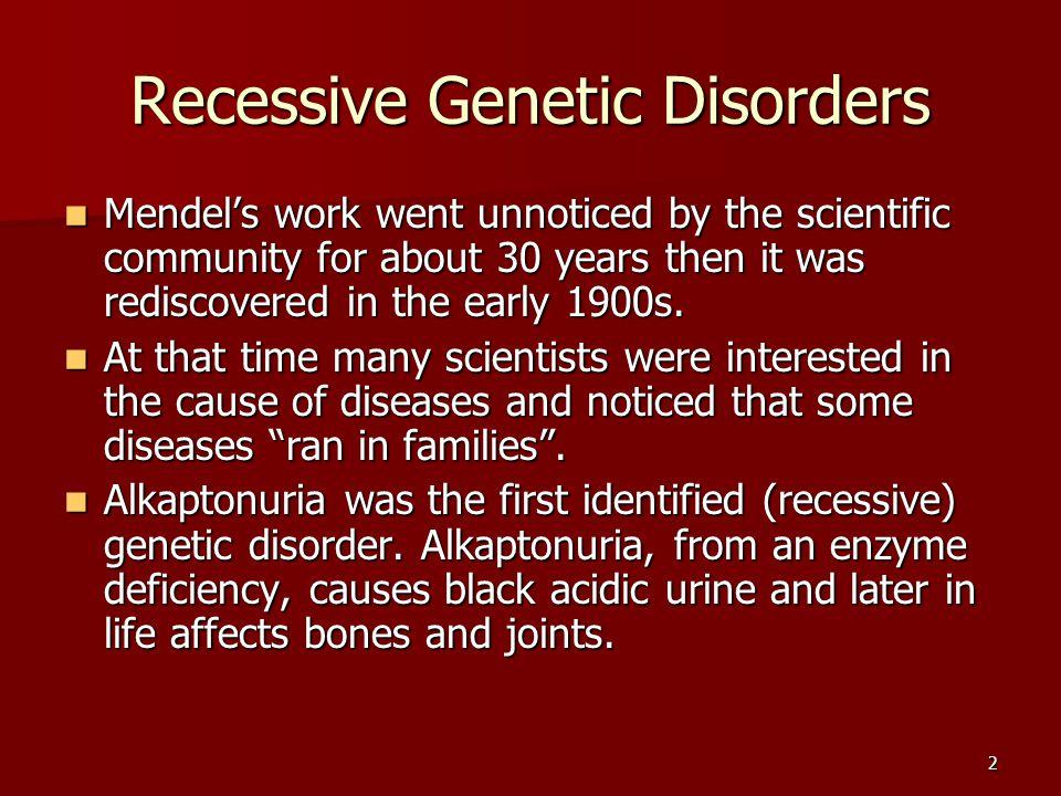 Recessive Genetic Disorders