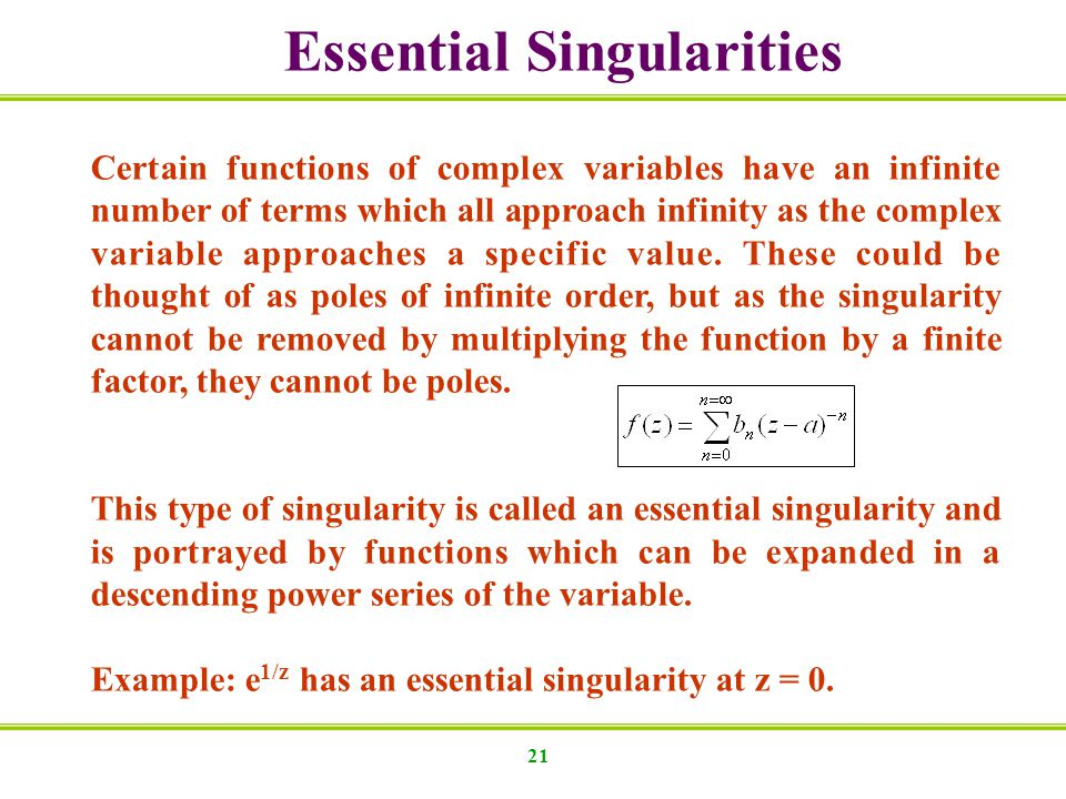Essential Singularities