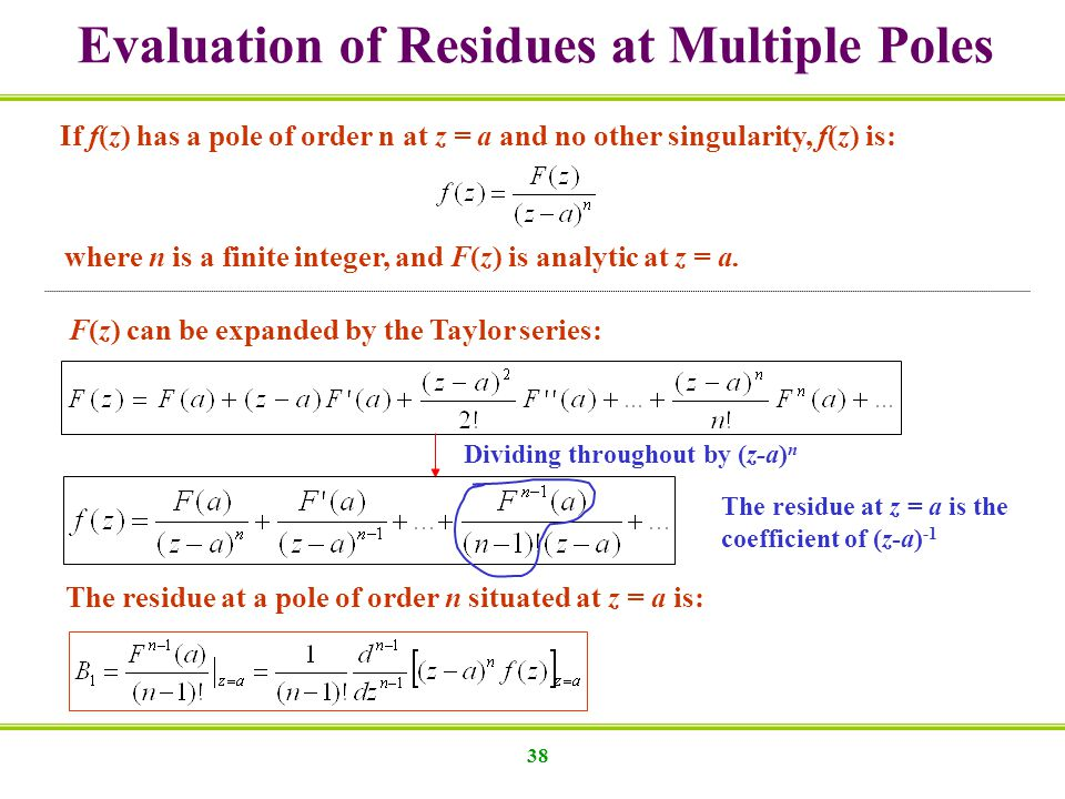 Evaluation of Residues at Multiple Poles