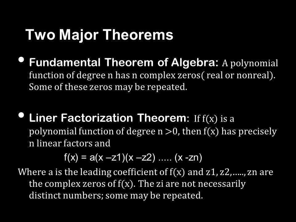Two Major Theorems