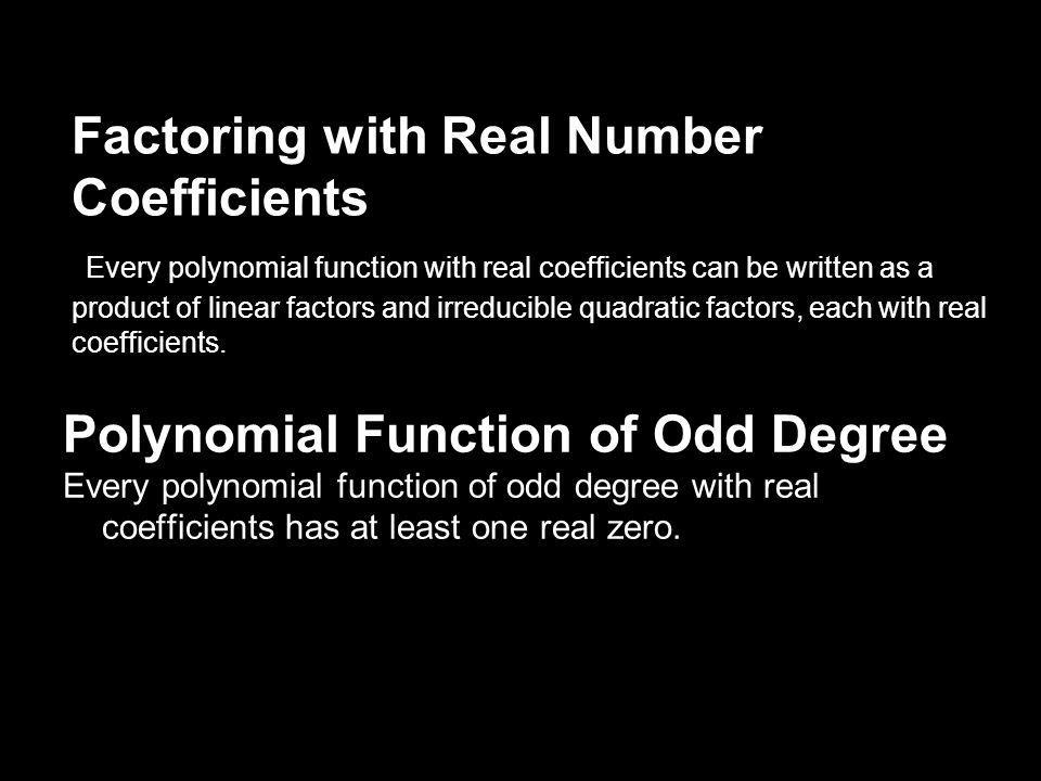 Polynomial Function of Odd Degree