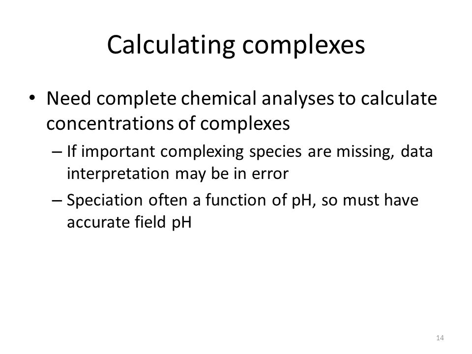 Calculating complexes