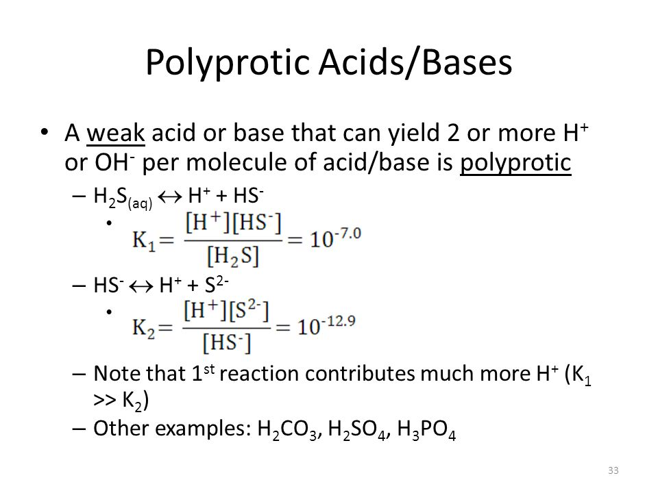 Polyprotic Acids/Bases