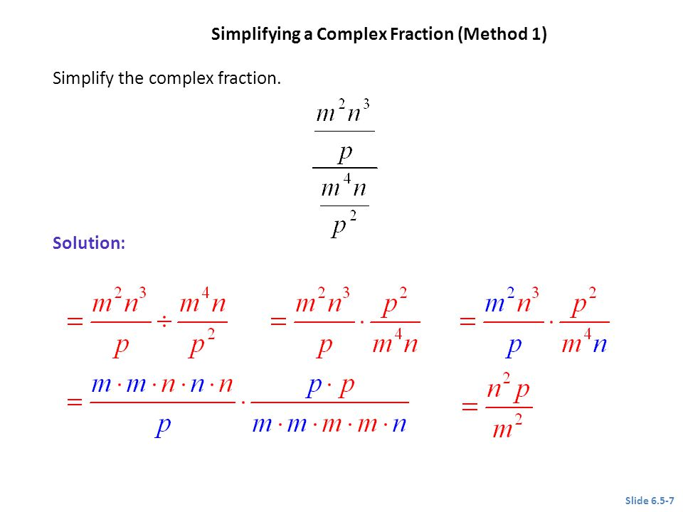 Simplifying a Complex Fraction (Method 1)