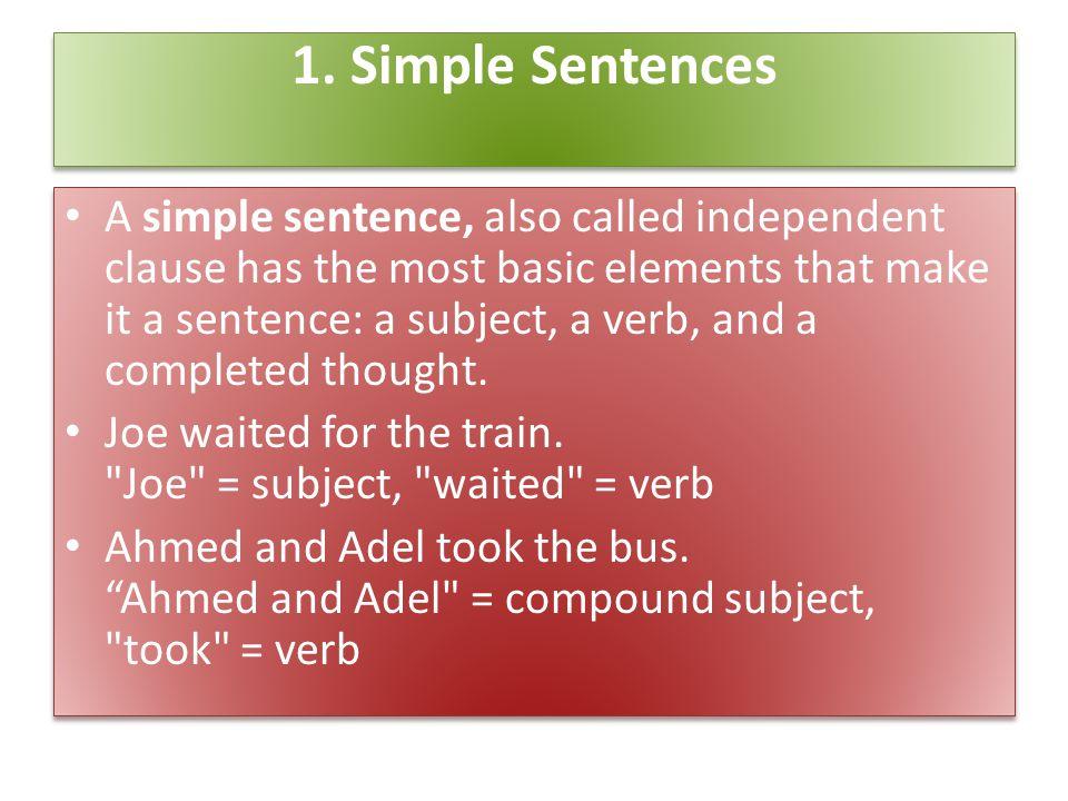 1. Simple Sentences