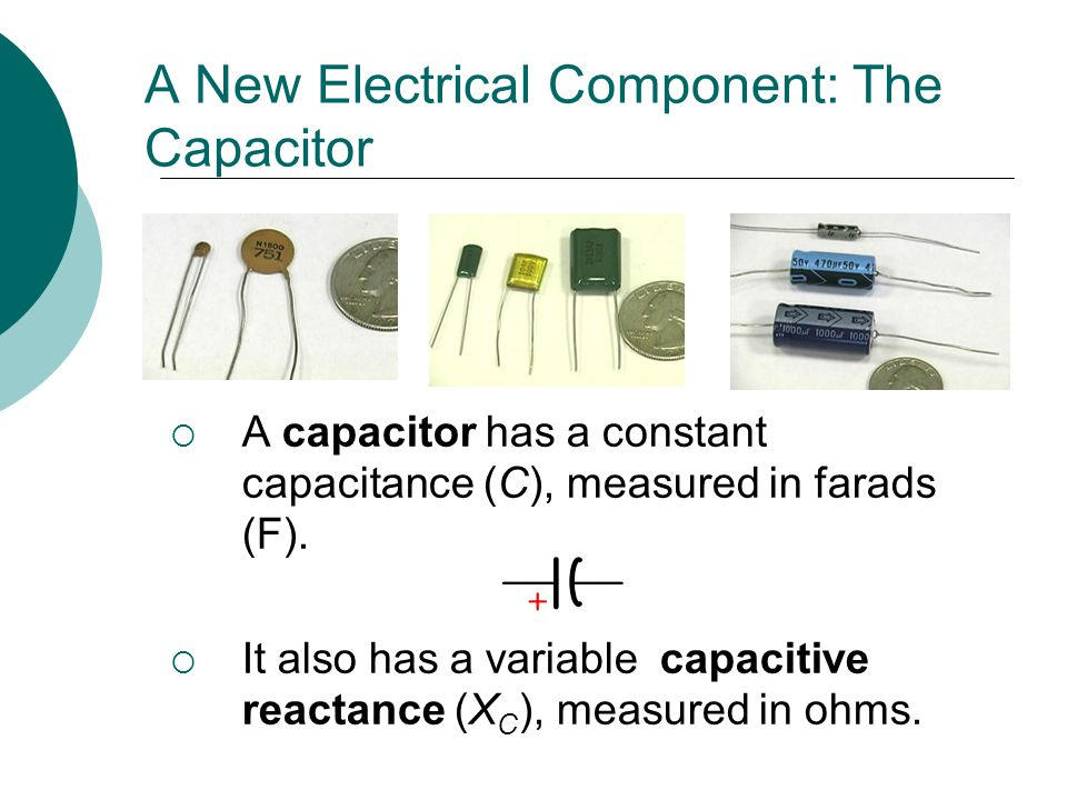 A New Electrical Component: The Capacitor