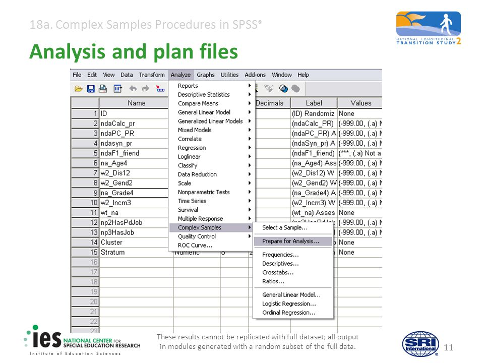 Analysis and plan files
