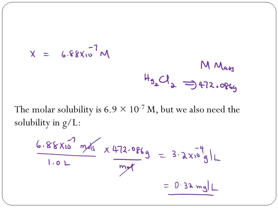 The molar solubility is 6