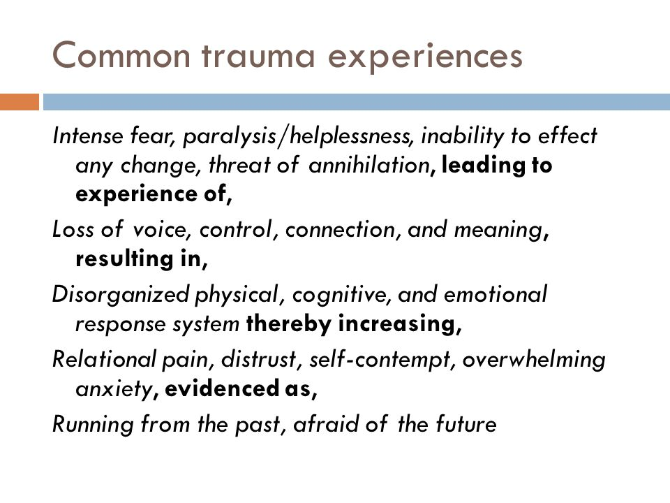 Common trauma experiences