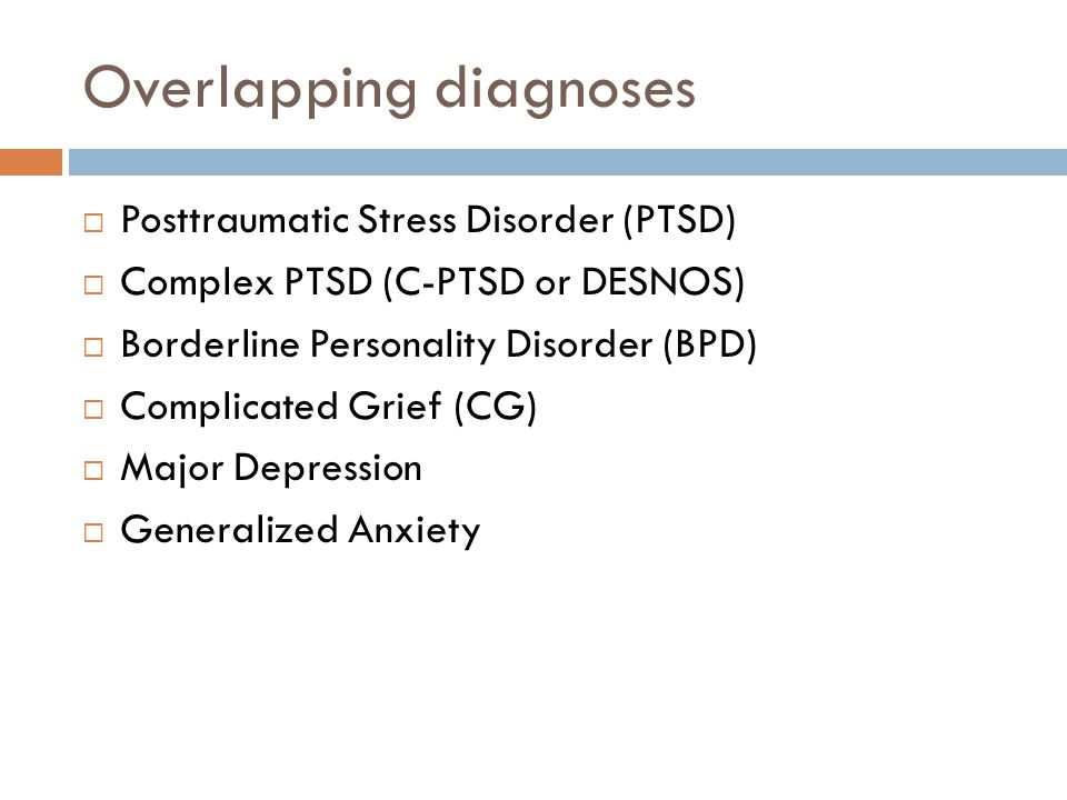 Overlapping diagnoses
