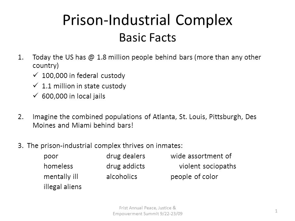 Prison-Industrial Complex Basic Facts