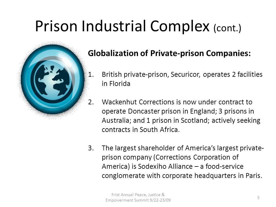 Prison Industrial Complex (cont.)