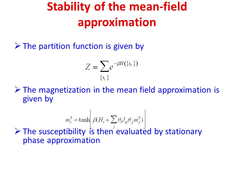 Stability of the mean-field approximation