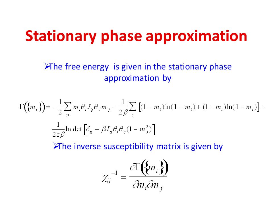 Stationary phase approximation