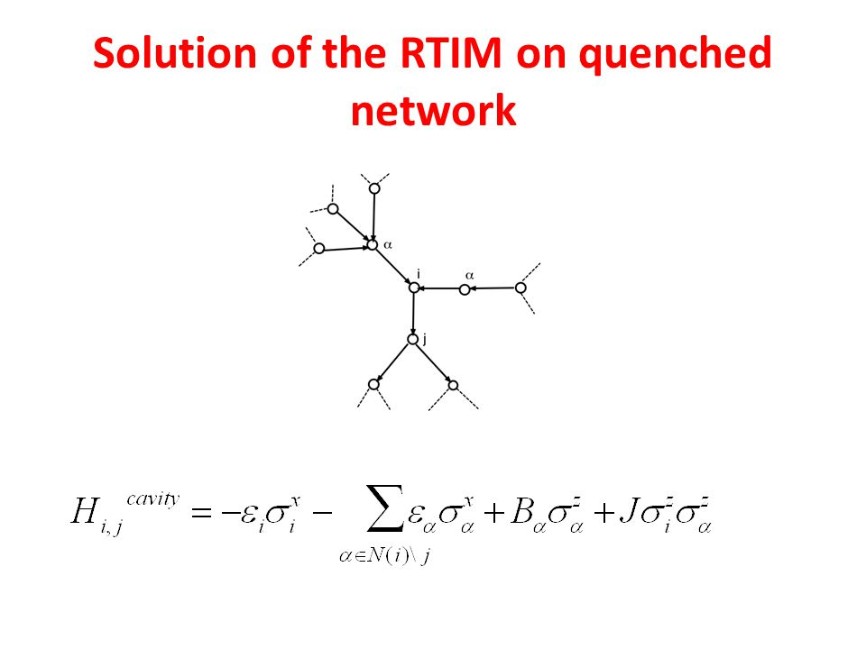 Solution of the RTIM on quenched network