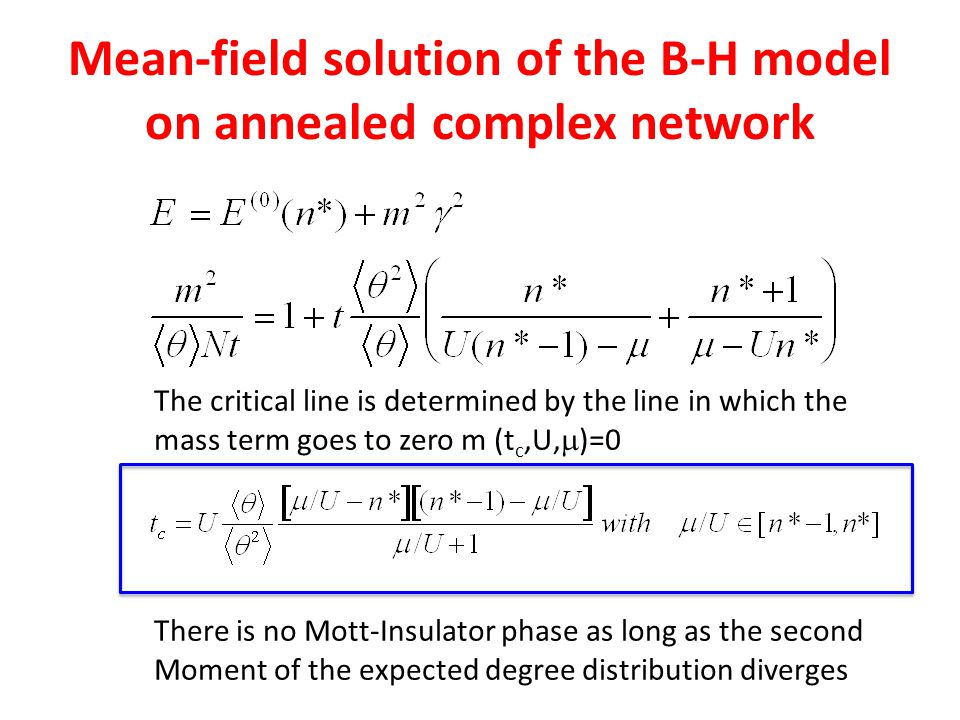Mean-field solution of the B-H model on annealed complex network