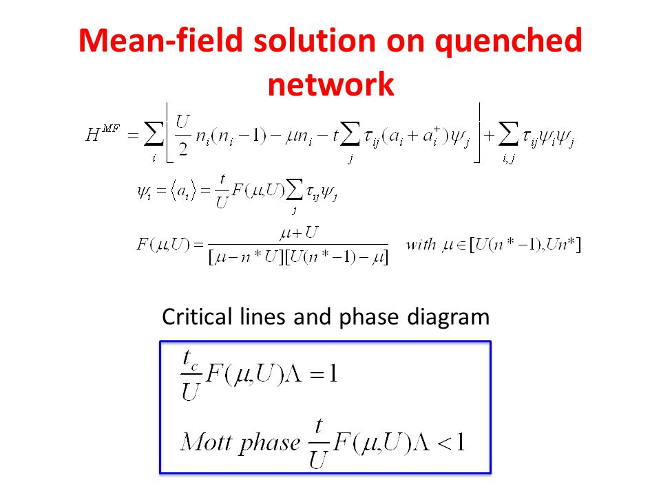 Mean-field solution on quenched network