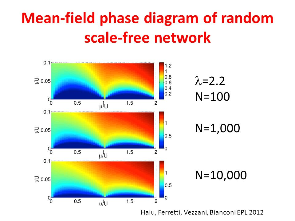 Mean-field phase diagram of random scale-free network