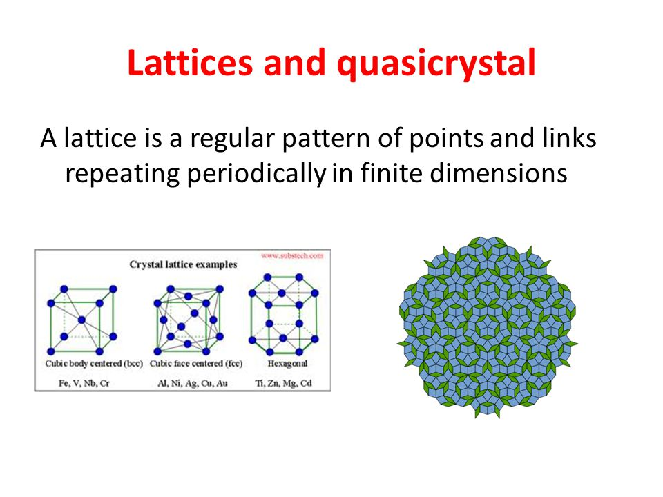 Lattices and quasicrystal