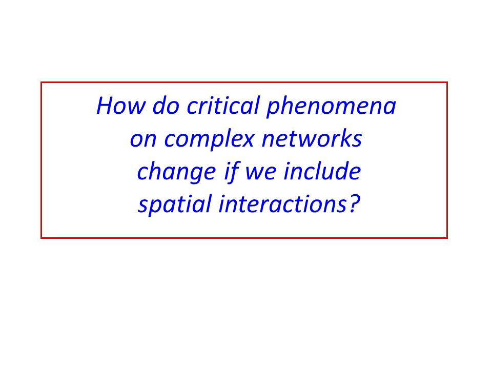 How do critical phenomena on complex networks change if we include spatial interactions