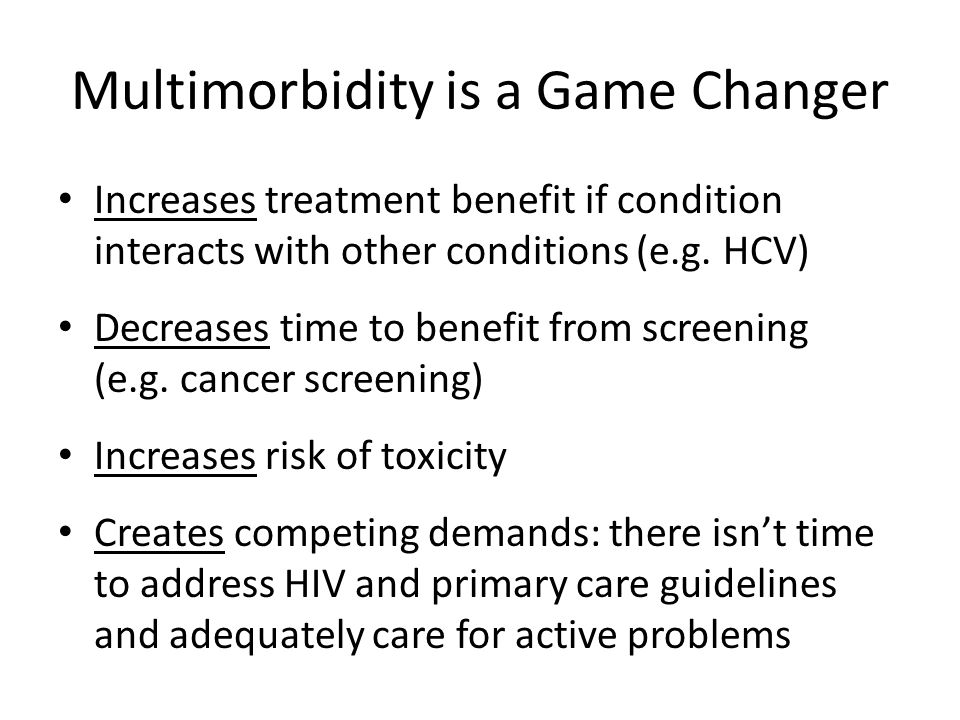 Multimorbidity is a Game Changer