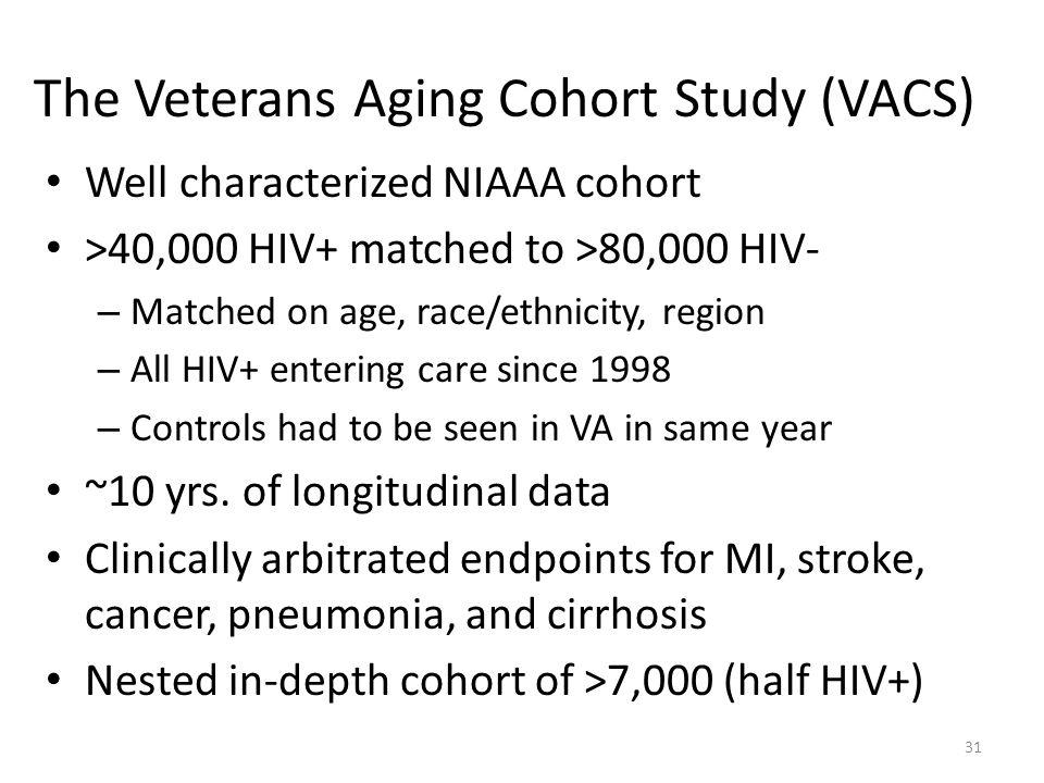 The Veterans Aging Cohort Study (VACS)
