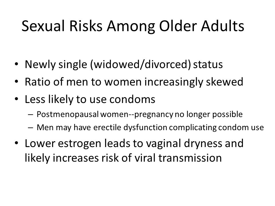 Sexual Risks Among Older Adults