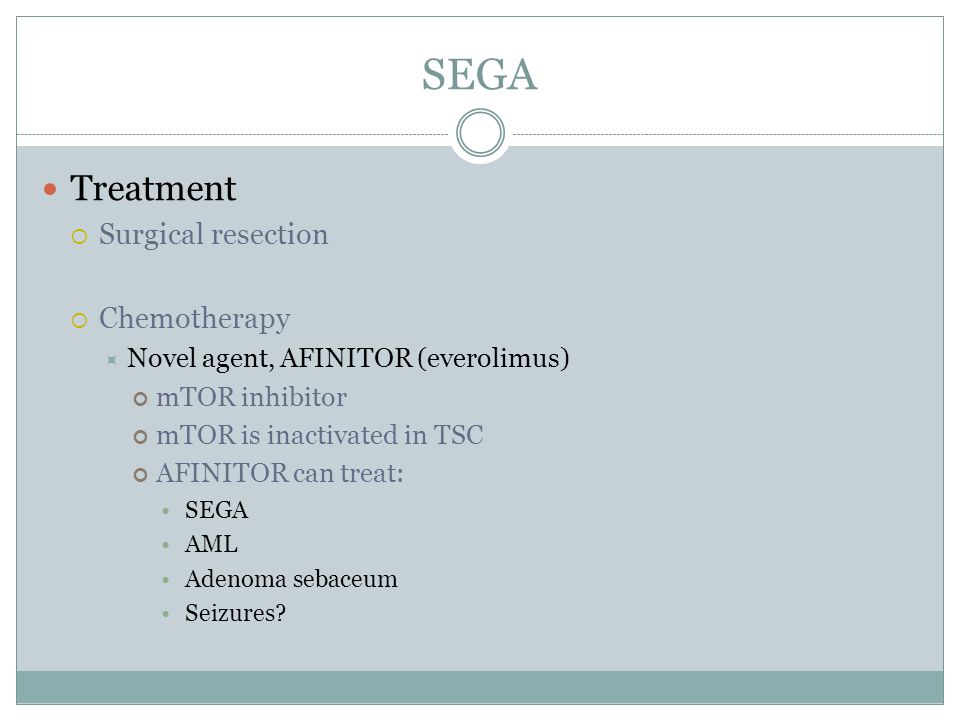 SEGA Treatment Surgical resection Chemotherapy