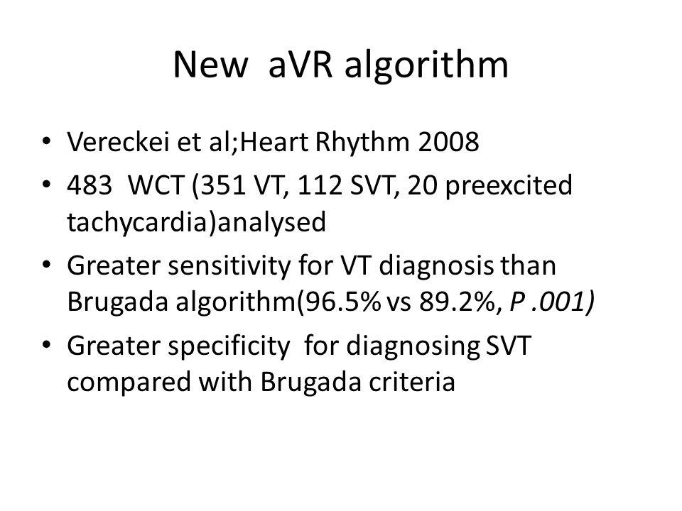 New aVR algorithm Vereckei et al;Heart Rhythm 2008