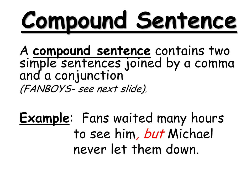 Compound and Complex Sentences - ppt video online download