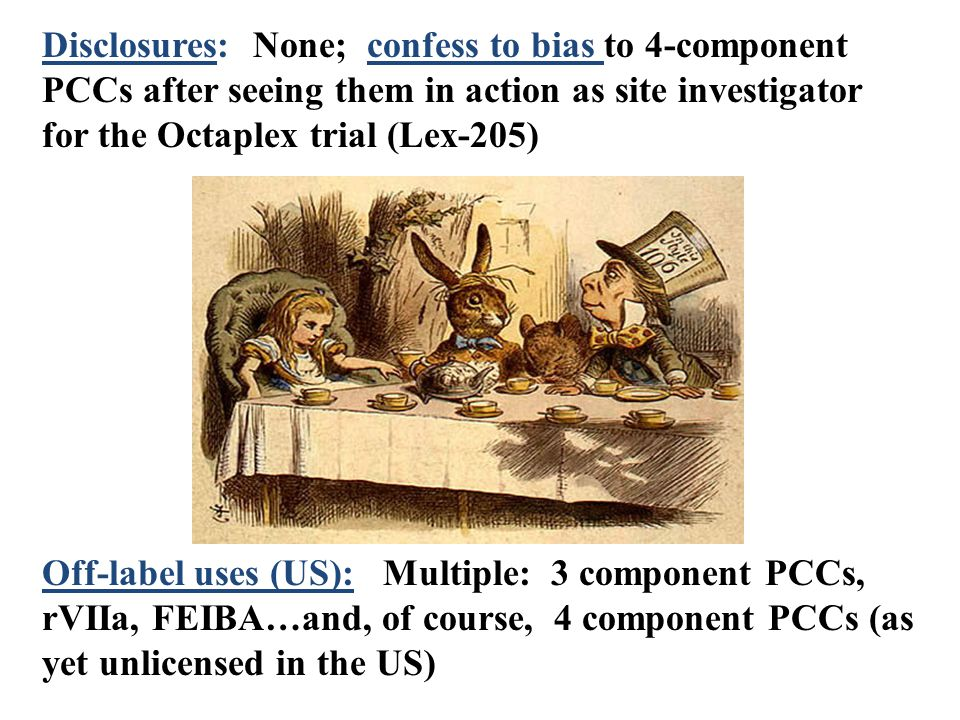 Disclosures: None; confess to bias to 4-component