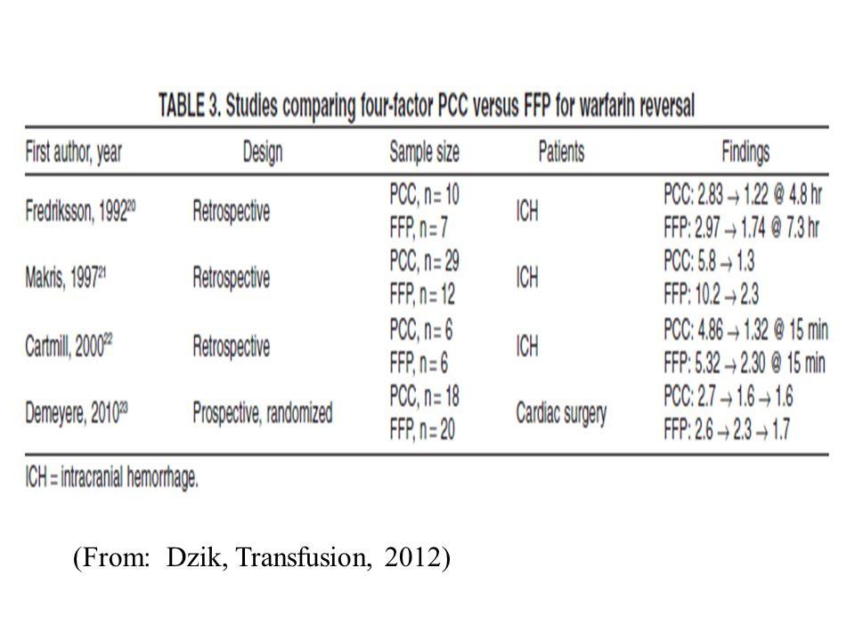 (From: Dzik, Transfusion, 2012)