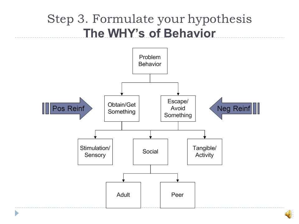 Step 3. Formulate your hypothesis The WHY's of Behavior