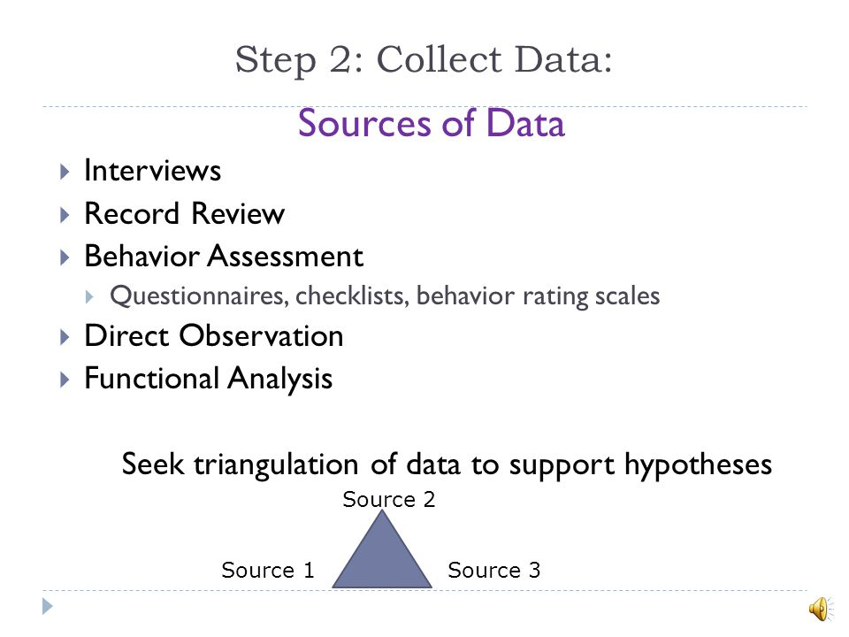 Sources of Data Step 2: Collect Data: Interviews Record Review