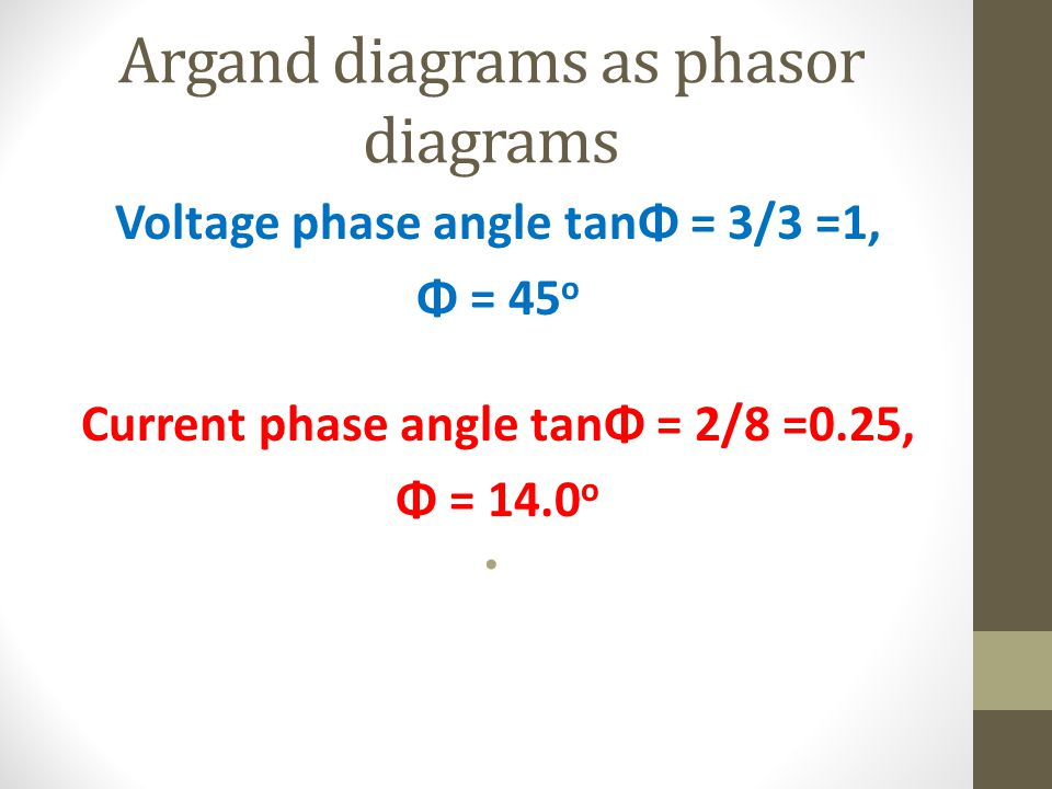 Argand diagrams as phasor diagrams
