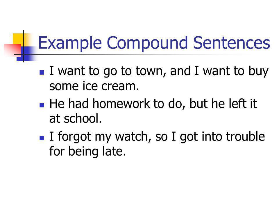 Example Compound Sentences