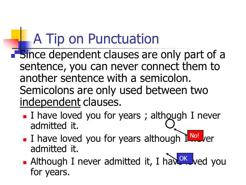 A Tip on Punctuation