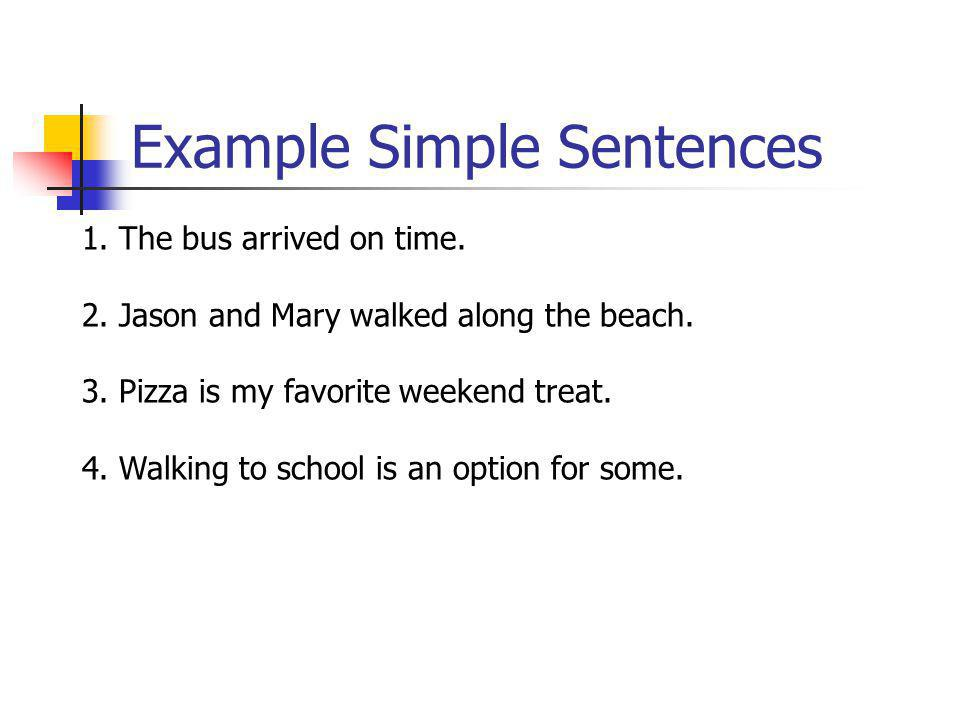 Example Simple Sentences