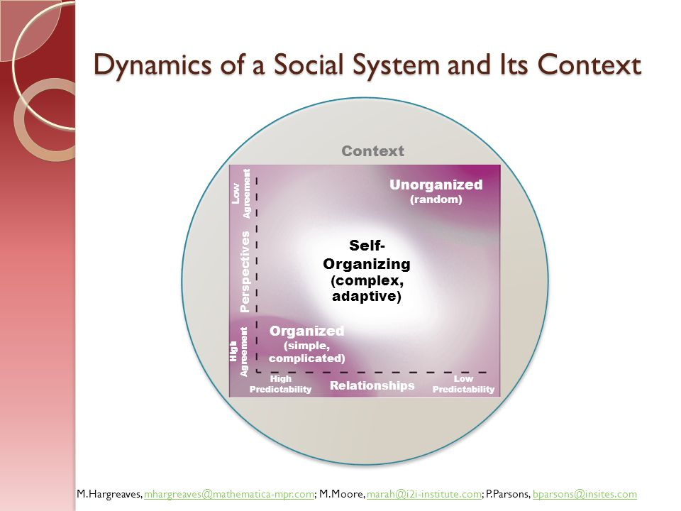 Dynamics of a Social System and Its Context