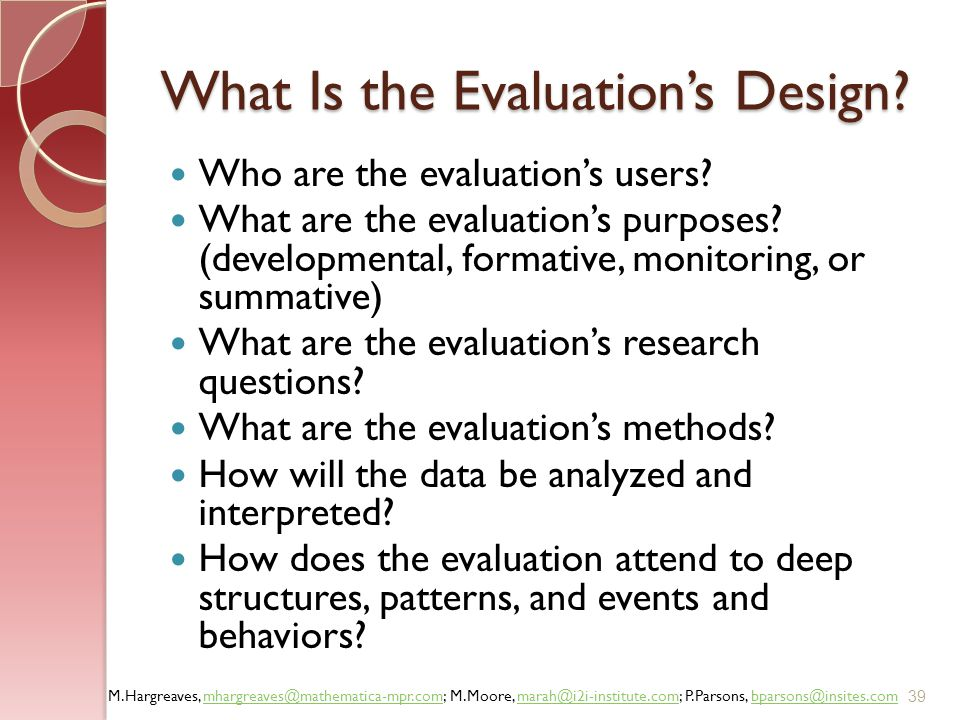 What Is the Evaluation's Design