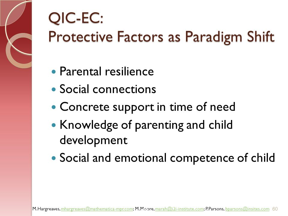 QIC-EC: Protective Factors as Paradigm Shift