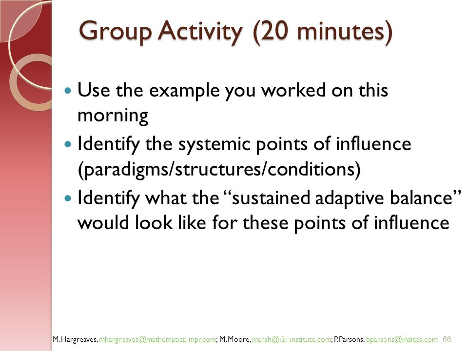 Group Activity (20 minutes)
